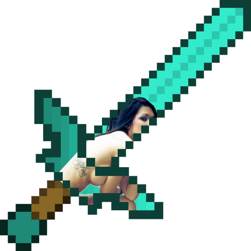 Minecraft Diamond Pickaxe Png