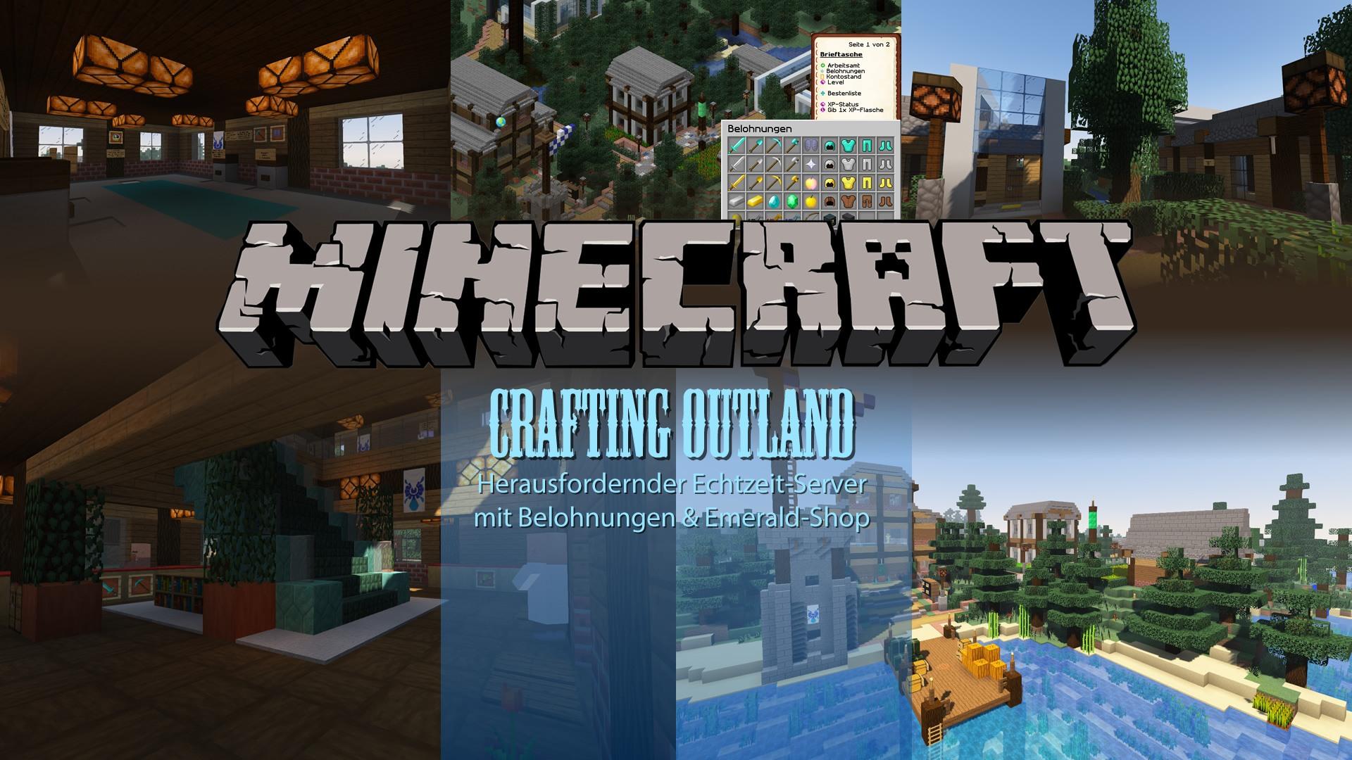 Crafting Outland | Freies Bauen & Überleben in Echtzeit | Minecraft ...